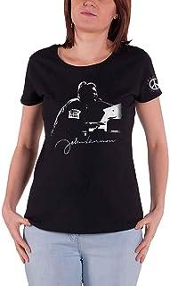 John Lennon T Shirt People for Peace Logo Nouveau Officiel Femme Skinny Fit