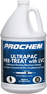 Ultrapac PreTreat with LVC, Professional Pretreatment for Carpets with No Added Fragrance, Low Odor, 1 Gal.