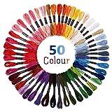 Stickgarn Embroidery Threads Nähgarne Stickerei Basteln Crafts Floss Set 50