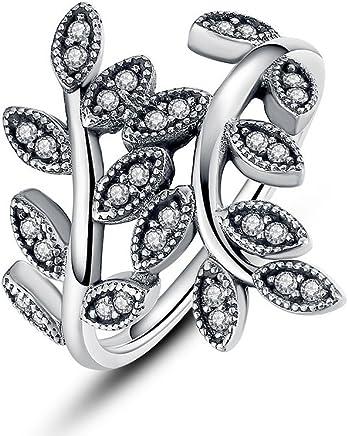 Dixey Luxury Anillos Sortijas 14k de Compromiso Aniversario Matrimonio Boda Oro Plata Anel De Ouro Prata