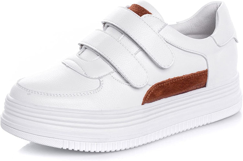 HBDLH-Damenschuhe in der Dicken Hintern Weiße Schuhe Casual Schuhen Klett Leder Joker.  | Deutschland Outlet  | Deutschland Shop