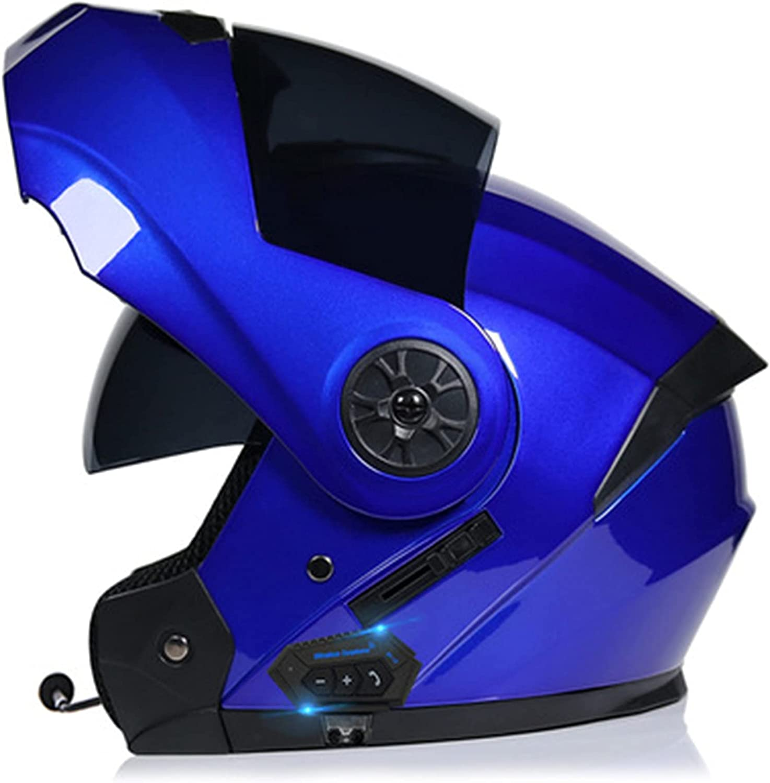 Casco integral con Bluetooth, casco modular, casco de moto, casco para adultos, hombre y mujer, con certificación DOT/ECE