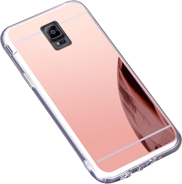 Coque Galaxy Note 4,Miroir Housse Coque Silicone TPU pour Samsung Galaxy Note 4,Surakey Bling Briller Diamond Coque Miroir Etui TPU Téléphone Coque de ...