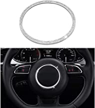 Senauto Bling Steering Wheel Center Cover Trim Decoration Sticker Fit for Audi A3 A4L A5 Q3 Q5