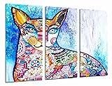 Cuadro Fotográfico Decoracion mandala de gato de colores Tamaño total: 97 x 62 cm XXL