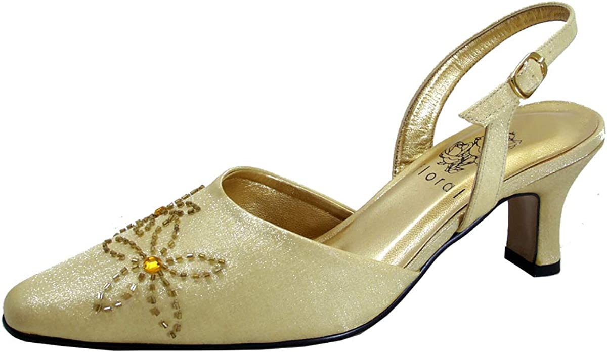 Floral Alma Women's ついに再販開始 Wide Width Shank Shoes Open Slingback 即納 Dress