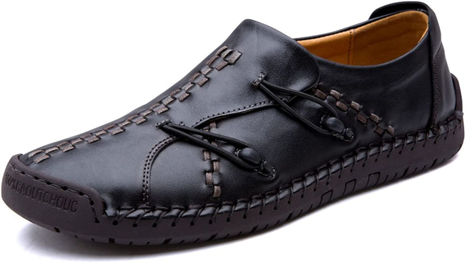 SHOESDQ Summer Men's Leather Leisure shoes Handmade Outdoor shoes