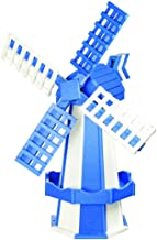 product image for DutchCrafters Decorative Poly Two-Tone Windmill (Medium, Bright Blue/White)