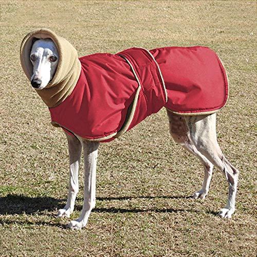 Winter Warm Pet Dog Kleidung wasserdichte Hundejacke für mittelgroße Hunde Dicke Hunde Kleidung Mantel Windhund Wolfshund Schäferhund, Rot, 4XL