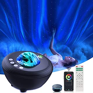Star Projector Galaxy Night Light, App Remote Control Aurora Star Light Projector and Starry Mood Lamp with Bluetooth Spea...