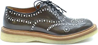 CHURCH'S Women's MCBI37646 Brown Leather Lace-Up Shoes