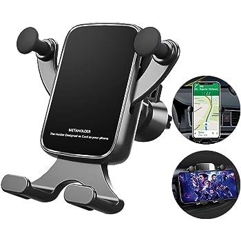 Zregovic Supporto Smartphone per Auto Samsung Auto Accessori Interni Porta Cellulare da Auto Porta Telefono Auto iPhone gravit/à Universale 360 Gradi di Rotazione Nero Huawei e dispositivi