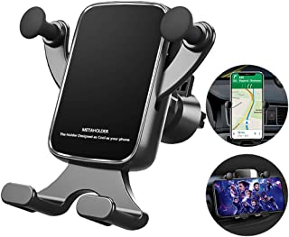 McNory Soporte Móvil Coche Gravedad, 360° Rotación Universal Soporte Móvil para Rejilla del Aire,para iPhone XS/XS MAX Google Pixel 3 XL,Samsung,GPS y Otros Smartphone