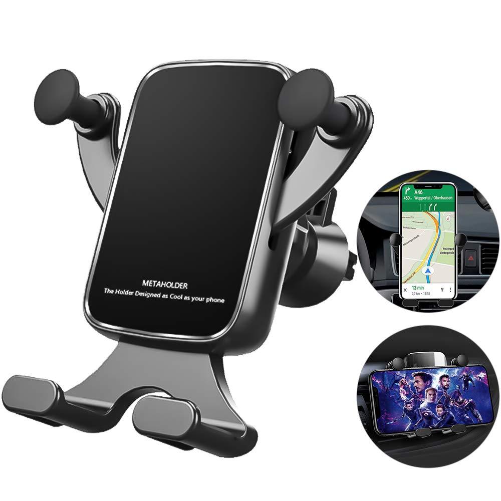 McNory Soporte Móvil Coche Gravedad, 360° Rotación Universal Soporte Móvil para Rejilla del Aire,para iPhone XS/XS MAX Google Pixel 3 XL,Samsung,GPS y Otros Smartphone: Amazon.es: Electrónica