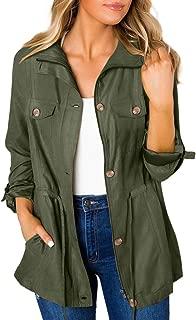Womens Casual Lightweight Zip Up Suede Jackets Dust Coat Outerwear Windbreaker