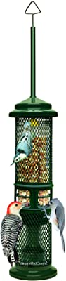 Squirrel Buster Nut Feeder Squirrel-Proof Bird Feeder for Nuts and Fruit, Two Meshes