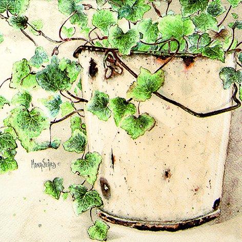 20 servetten Ivy - bloeiende klimop/planten/tuin 33x33cm