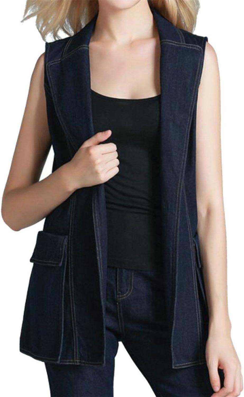 GAGA Womens Sexy Denim Fashion Sleeveless Coat