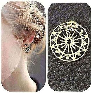 Teardrop Clip on Earrings for Girls with Crystal November Birthstone Asymmetrical Earring