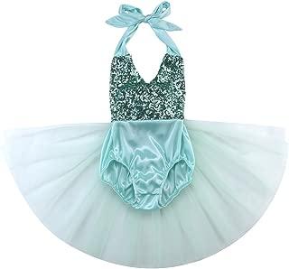 Hotone Baby Girls Sequins Bodysuit Romper Jumpsuit Summer Sunsuit Outfits