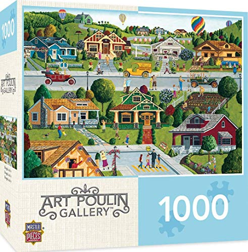 MasterPieces Hometown Gallery Jigsaw Puzzle, Bungalowville, Featuring Art by Art Poulin, 1000Piece