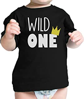 365 Printing King Queen Wild One Crown Family Matching Clothes