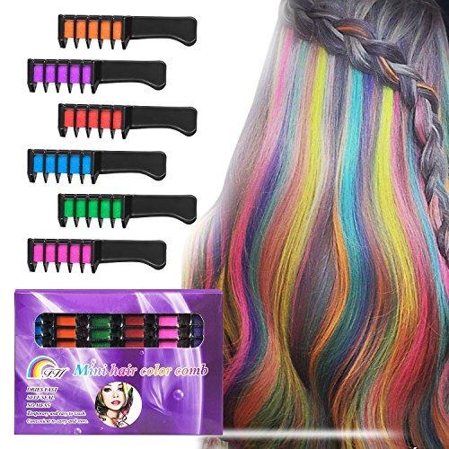 Peine Tiete Tiza para el cabello BATTOP Kit de 6 Peine Colores...