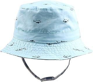 BAVST Baby Sun Hat Boys Bucket Hat Toddler Floppy Hat UPF 50+ Wide Brim Chin Strap Summer Play Hat for 6M-6T