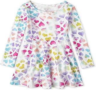 فستان للبنات بأكمام طويلة مطبوع من ذا تشيلدرنز بليس