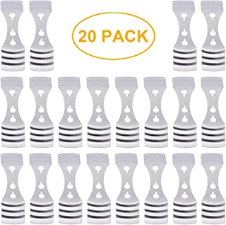 20 Pack Metal Candle Wick Centering Devices Stainless Steel Candle Core Holder for Candle DIY Making (Wick Centering Device, Silver)