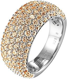 خاتم للنساء من اسبريت كوليكشن طراز ELRG91530D170 - من الفضة الاسترلينية 925/1000 مع مكعب زركونيا - 9.5 غرام فضي