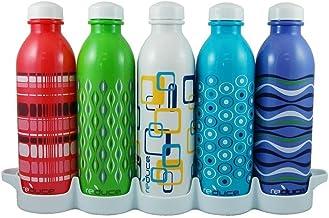 Reduce WaterWeek Reusable Water Bottles, 16oz Classic Style – Includes 5 Refillable Water Bottles Plus Bonus Fridge Tray F...