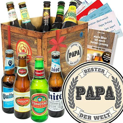 Bester Papa der Welt/Biere aus aller Welt/Geschenk für Papa