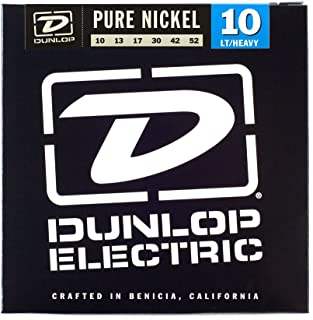 Dunlop DEK1052 Pure Nickel Electric Guitar Strings, Light/Heavy, .010-.