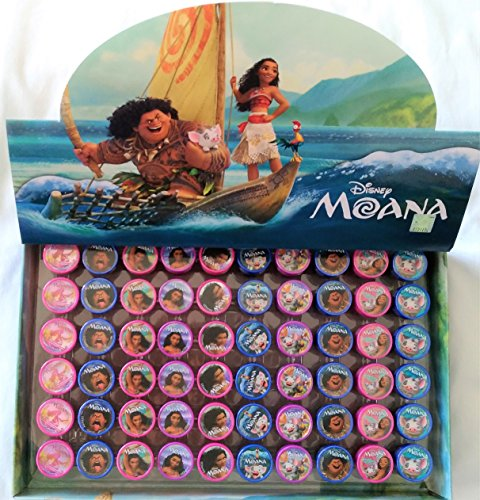 60 pcs Disney Moana Self-inking Stamps Stampers Pencil Topper Authentic Disney Licensed