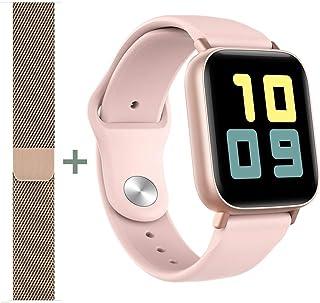 Reloj inteligente Q10., Rosa / Banda extra