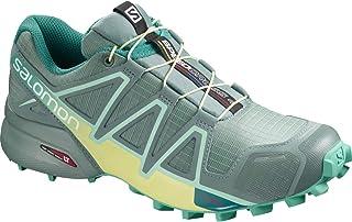 Salomon(サロモン) レディース 女性用 シューズ 靴 スニーカー 運動靴 Speedcross 4 CS - Trellis/Sunny Lime/Atlantis [並行輸入品]