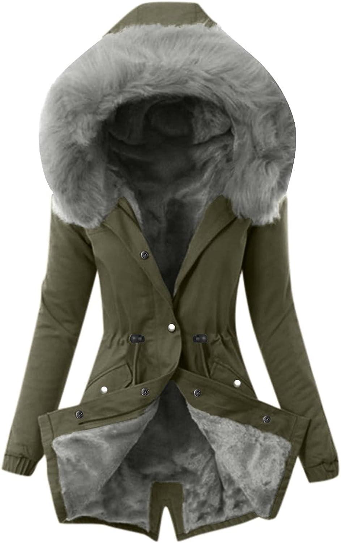 Ladies Lining Coat Womens Winter Warm Thick Long Jacket Hooded Overcoat Raincoat