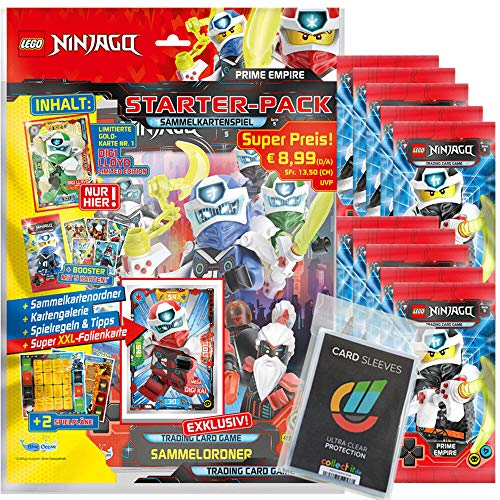 Lego Ninjago - Serie 5 Trading Cards - 1 Starter + 10 Booster + Collect-it Sleeves - Deutsch