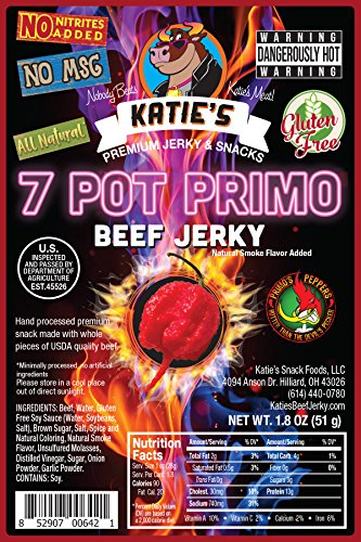 7 Pot Primo Spicy Beef Jerky - No Preservatives, Nitrites, or MSG All Natural