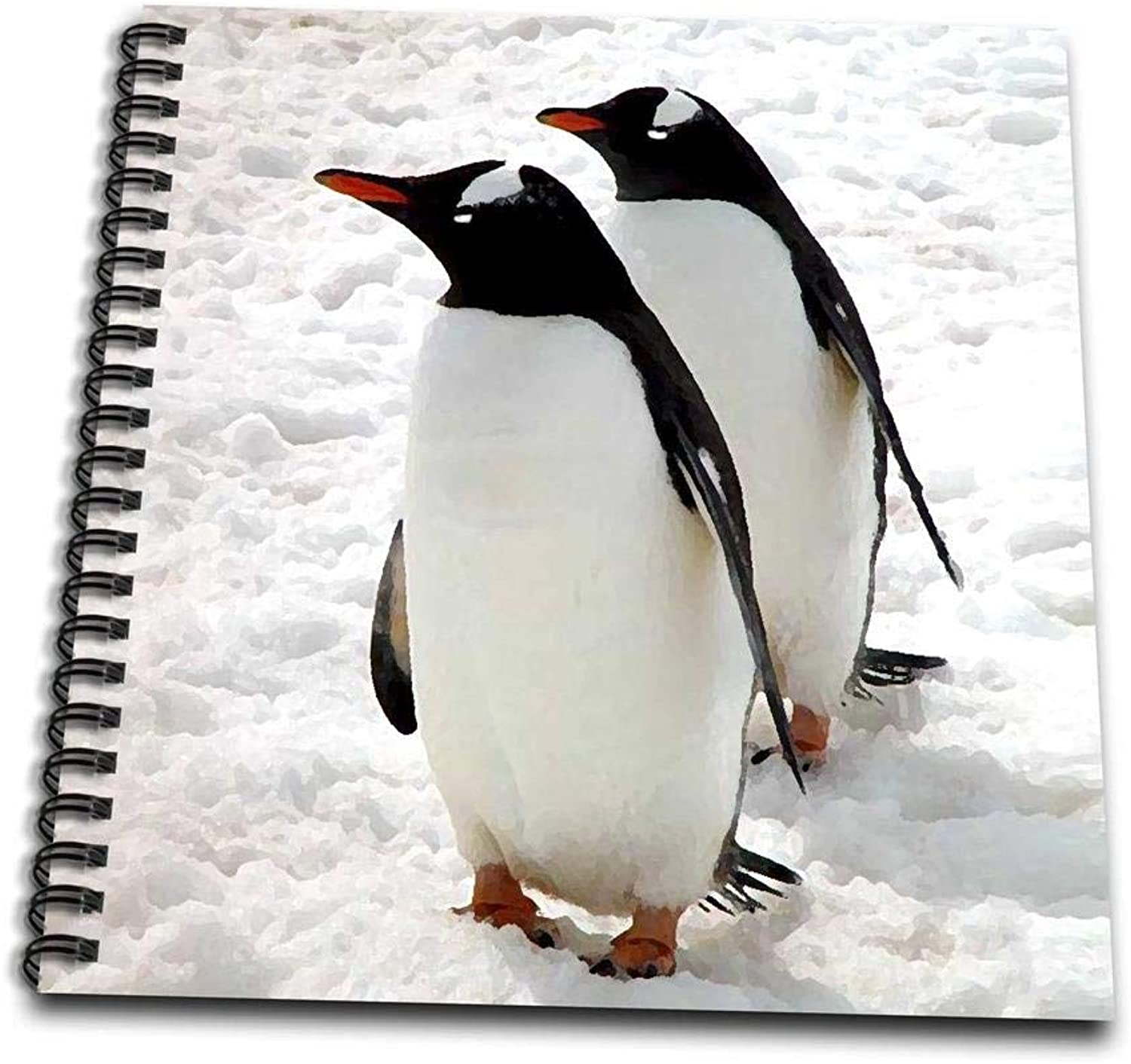 3dpink db_4182_1 PenguinsDrawing Book, 8 by 8