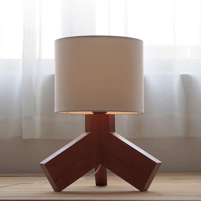 GJ Table Lamp Bedside Lamp Bedroom A Living Room Industry Camphor Wood Retro Table Lamp GJV