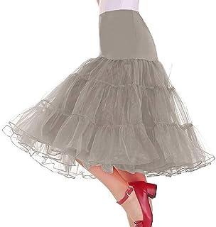 Fubotevic Las Mujeres Verano Ballroom Mesh Party Dance Swing Midi Faldas de Cintura Alta