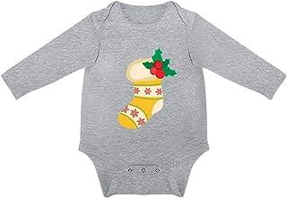 Lplpol, Lindo Calcetín de Navidad Bebé de Algodón de Manga Larga Mono Mono para Unisex Bebé Niños Niñas 0s8l577dmlsx