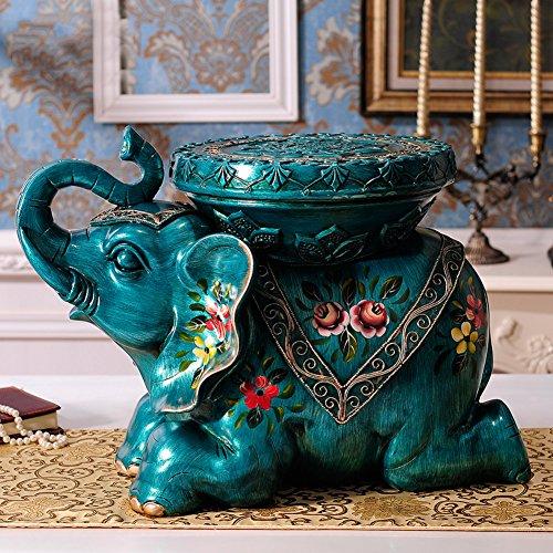 Visual Taste Hocker Thai Style Elefant für Schuhe hocker Wohnaccessoires Regale Geschenk-Dekoration Harz