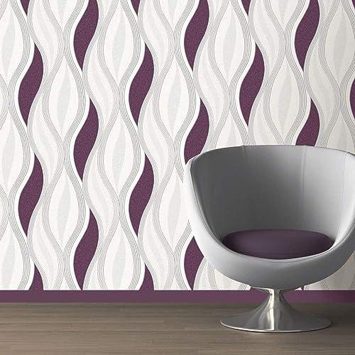 Pink Purple Bubbles 3D Wallpaper Modern White Round Textured Vinyl Muriva