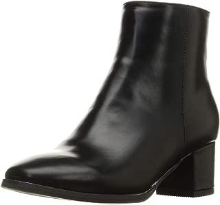 [オリエンタルトラフィック] ブーツ シンプル 太ヒール スクエアトゥ きれいめ ショートブーツ プレーン レディース 9408