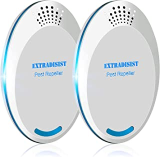 ExtraDisist Ultrasonic Pest Repeller, Mosquito Repellent, Insect Repellent, Pest Repeller Plug in, Electronic Mouse Trap, Pest Control Ultrasonic Repellent, Mouse Traps That Work-2 Packs