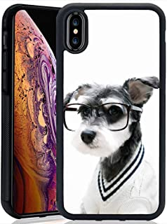 Schnauzer Dog Case for iPhone Xs Max(2018), TPU and PC Customized Design Skin Cover, Black Anti-Slippery Anti-Scratch Protective Case for iPhone Xs Max 6.5 inch