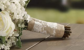 David Tutera Burlap and Lace Bouquet Wrap